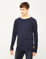 Nudie Jeans Otto Long Sleeve Stripe T-Shirt Navy