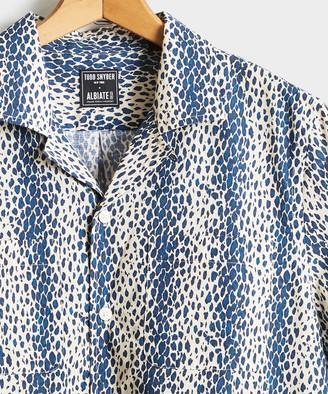 Todd Snyder Leopard Print Camp Collar Short Sleeve Shirt