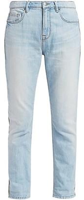 Frame Le Beau Cargo Mixed-Media High Rise Jeans