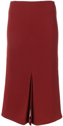 Victoria Beckham Box Pleat Midi Skirt