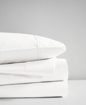 Simmons 400 Thread Count King 4-Piece Wrinkle Resistant Cotton Sateen Sheet Set Bedding