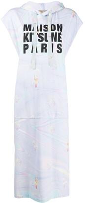 MAISON KITSUNÉ Logo Print Hoodie Dress