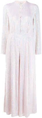 Temperley London Wide Leg Sequinned Jumpsuit