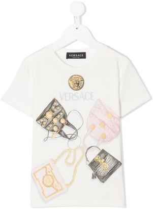 Versace bags-print T-shirt