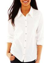 JCPenney Pretty Rebellious Denim Button-Front Shirt
