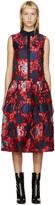 Erdem Red & Purple Organza Greta Dress
