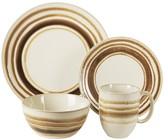 Jay Import Romy Brown 16-Piece Dinner Set