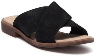Clarks Declan Ivy Snakeskin Embossed Slide Sandal