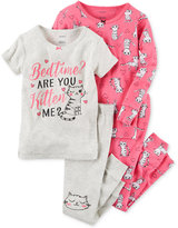 Carter's 4-Pc. Are You Kitten Me Pajama Set, Baby Girls (0-24 months)
