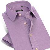 Dreamtao Mens Lightwight Button-Down Collar Breathable Comfort Slim-Fit Cotton Shirt