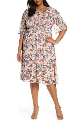 Kiyonna Katarina Floral Party Dress