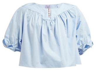 Thierry Colson Theda Cotton-poplin Shirt - Blue