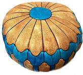 "Moroccan Furniture Bazaar Moroccan Leather Hassack Round Ottoman Pouf Seat XXL Large Poof Seat 36""Ø"
