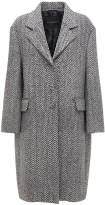 Ermanno Scervino Cashmere Blend Coat W/ Crystals