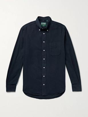 Gitman Brothers Slim-Fit Button-Down Collar Cotton-Flannel Shirt