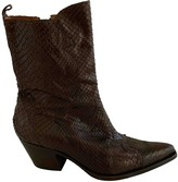 Sartore Brown Python Ankle boots
