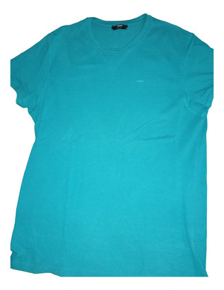 Fendi Turquoise Cotton T-shirts