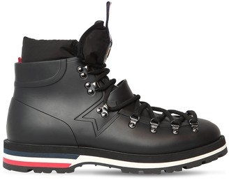 Moncler Henoc Rubber Lace-Up Rain Boots