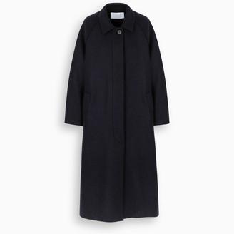 Harris Wharf London Blue single-breasted coat