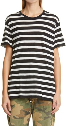 R 13 Boy Stripe Cotton & Cashmere T-Shirt