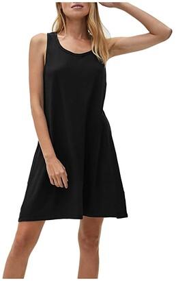 Michael Stars Becca Vintage Jersey Tank Dress w/ Gathered Back (Black) Women's Dress