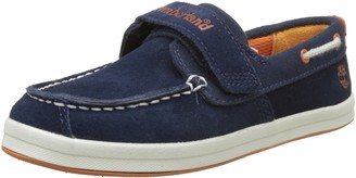 Timberland Dover Bay H&l Boatblack Iris Suede With Orange Unisex Kids Boat Shoes