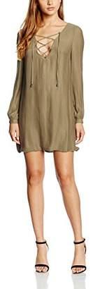 Love & Lies Women's Hutton A-Line Plain Long Sleeve Dress