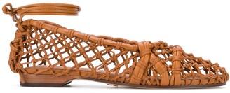 Tory Burch Helena lattice ballerinas