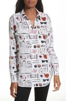Equipment Women's Slim Signature Print Silk Shirt