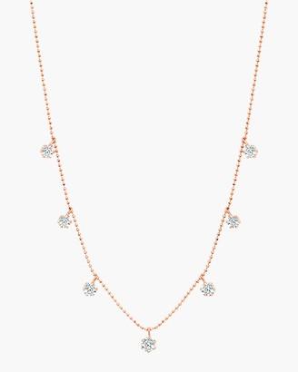 Graziela Gems Medium Rose Gold Floating Diamond Necklace