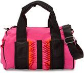 Cynthia Vincent Indiana Neoprene Satchel Bag, Pink/Orange/Black