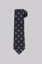 Savoy Taylors Guild Navy Medallion Silk Tie