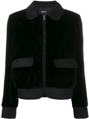 A.P.C. wool bomber jacket