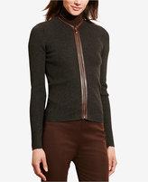Lauren Ralph Lauren Petite Zip-Front Cardigan