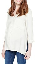 Topshop Slouch Pocket Maternity Blouse