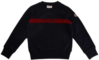 Moncler Set Sweater With Blue Trousers
