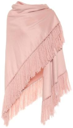 Loro Piana Flamenco fringed cashmere shawl