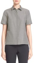 Lafayette 148 New York Women's 'Maisie' Stripe Short Sleeve Blouse