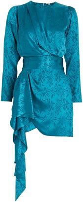 Ronny Kobo Santana Satin Jacquard Mini Dress