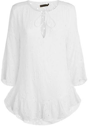 Vix Ruffle Broderie Tunic Dress