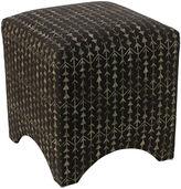 Skyline Furniture Ellery Cube Ottoman, Arrow Stripe