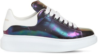 Alexander McQueen 45mm Iridescent Leather Sneakers