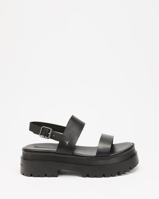 Windsor Smith Women's Black Flat Sandals - Tasty - Size 6 at The Iconic