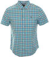 Original Penguin Slub Plaid Woven Shirt Aruba Blue