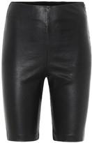 GRLFRND Carter leather biker shorts