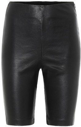 GRLFRND Carter leather biker shorts