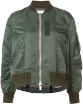 Sacai bomber with cape back - women - Cotton/Nylon/Polyester/Cupro - 2