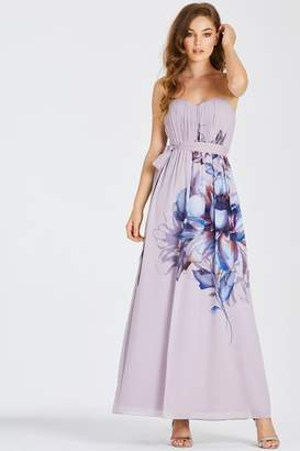 Little Mistress Corina Floral Bandeau Maxi Dress