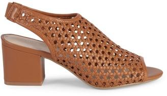 Pure Navy Josie Weave Peep-Toe Slingback Sandals