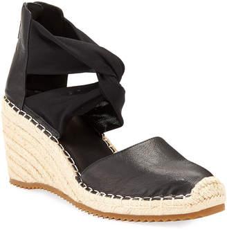 Eileen Fisher Wallis Leather Espadrille Wedge Sandals